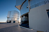 Southern Cross Unit Telescope 3 & Moon Unit Telescope 2, Belonging To The Very Large Telescope (Vlt) Operated By The European Southern Observatory On Cerro Paranal, Antofagasta Region, Chile