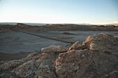 Sandstone Formations Of The Valle De La Luna (Moon Valley) In The Late Afternoon, San Pedro De Atacama, Antofagasta Region, Chile