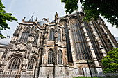View Of The Gothic (1414) East End Of Aachen Cathedral (Kaiserdom) From The Southeast, Aachen, Germany