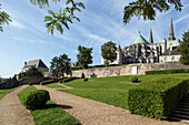the bishop's gardens at the notre-dame cathedral, chartres, eure-et-loir (28), france
