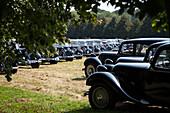 80 years of the front-wheel drive 'traction avant', legendary car in the park of the chateau saint-simon, la ferte-vidame, eure-et-loir (28), france