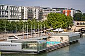 josephine baker swimming pool, port de la gare, quay francois mauriac, 13th arrondissement, paris (75), ile-de-france, france