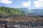 sharply-angled and rough lava flow, piton de la fournaise (peak of the furnace) or 'the volcanoö, reunion island, france, dom-tom
