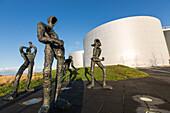 perlan (restaurant built on the city's old water cisterns), reykjavik, capital of icelande, europe