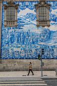 igrejas das carmelitas e do carmo, facade in azulejos, porto, portugal