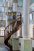 interior of the greek orthodox church taksiyarhis, town of ayvalik on the aegean sea, the olive riviera, north of izmir, turkey