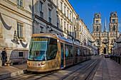 tao tramway, place du martroi, orleans, (45) loiret, centre, france