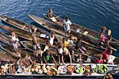 Boat Market with Fruits and Vegetables, Florida Islands, Solomon Islands