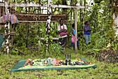 Telina Island Village Market, Marovo Lagoon, Solomon Islands