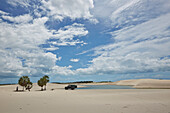 Lagoon filled by rainwater, near Camosim, ride with 4WD and guide Paulo, Extremo Nordeste Xpeditions, west Jericoacoara, Ceara, Brazil