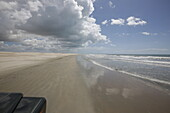 Beach is the road, ride to fishing village and beach Maceio, west of Camosim, ride with 4WD, west Jericoacoara, Ceara, Brazil