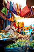 P. Radha Krishnan, Coconut & Banana Market, distributor of coconuts, bananas and cloth bags, market in Conoor, Nilgiri Hills, Western Ghats, Tamil Nadu, India