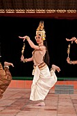 Camdodia, Phnom Penh Province, Phnom Penh town, Royal University of Fine Arts, training of the traditional Khmer dance by the National Ballet