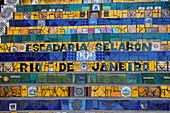 Escadaria Selaron is world famous work of Chilean artist Jorge Selaron in Rio de Janeiro, Brazil, South America