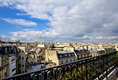 France,Paris view from a balcony