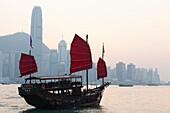 China,Hong Kong,Junk Boat