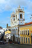 Pelourinho, the historical center of  Salvador da Bahia, the city of the Holy Saviour of the Bay of all Saints on the northeast coast of Brazil , South America