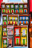 miniature houses in a shop of Salvador da Bahia, the city of the Holy Saviour of the Bay of all Saints on the northeast coast of Brazil , South America