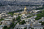 Europe, France, Les Invalides in Paris and its golden dome, The Church of St, Francis Xavier on the left