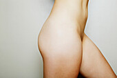 Close up of buttocks of nude Japanese woman