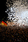 Music fans with German Flag,Germany