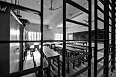 Empty classroom in a school, Munshiganji, Bangladesh