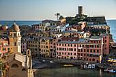 Cinque Terre cityscape and ocean, Liguria, Italy
