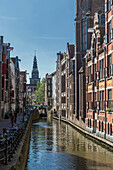 Buildings along Amsterdam canal, Netherland