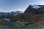 View of Grande Aiguille Rousse, a pyramidal mountain, Gran Paradiso National Park, Alpi Graie (Graian Alps), Italy, Europe