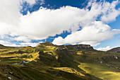 Großglockner-Hochapenstrasse, auf dem Weg zum Großglockner (3798 m), Tourismus, Klimawandel,  höchster Berg Österreichs, Ausflugsziel, Hohe Tauern, Ostalpen, Alpen, Österreich, Europa