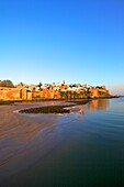 Oudaia Kasbah and coastline, Rabat, Morocco, North Africa, Africa