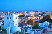 View over Kasbah to Tangier, Tangier, Morocco, North Africa, Africa