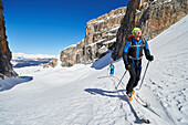 Two Men are skitouring in the Area of the Brenta Dolomites Madonna di Campiglio, Skitour, Brenta Gebirge, Dolomites, Trentino, Italien