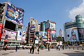 Ximending neighborhood and shopping district in the Wanhua Distr, Taipeh, Taiwan, Republic of China, Asia