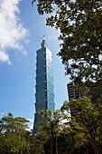 Taipei Financial Center, Taipei 101 Wolkenkratzer, Taiwan, Republik China, Asien