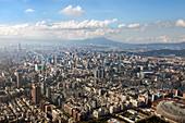 Blick vom Taipei Financial Center, Taipei 101 Wolkenkratzer, Taiwan, Republik China, Asien