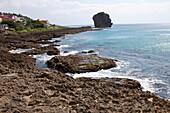 Grosser Fels an der Küste von Kenting, Taiwan, Republik China, Asien