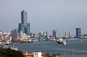Hochhaus Tuntex 85 Sky Tower im Hafen von Kaohsiung, Taiwan, Republik China, Asien