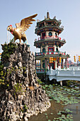 Pagoda, temple at the lake lotus in Kaohsiung, Taiwan, Republik China, Asia