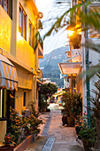 Little alley in the fishing village, popular living area, residential, Shek O, Hong Kong, China, Asia