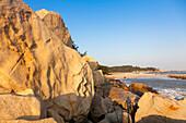 Beach of Kinmen Island at sunset, Ou Cuo Sandy Beach, Kinmen County, Kinmen Island, Quemoy, Taiwan, Asia