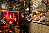 Bar Amoy Brau, drinking beer, Chinese and foreigners, two young Germans brew beer in Xiamen, craft beer, brewery, nightlife, Xiamen, Fujian, China, Asia