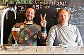 Portrait of Felix Kraemer, beer brewery, Bar Amoy Brau, two young Germans brew beer in Xiamen, craft beer, nightlife, Xiamen, Fujian, China, Asia