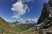 Forcella Giau, View to Tofana Mountains, Dolomites, South Tyrol, Italy