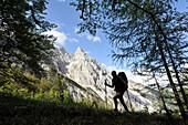 Climbing to Voisthaler Hut, Hochschwab, Styria, Austria
