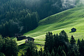 Small hut in Tierser Valley, Schlern, Dolomites, South Tyrol, Italy