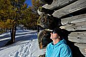 Resting on the Eulenwiese in the Stubai Valley, Stubai Alps, Tyrol, Austria