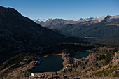 Laghi del Colbricon, View to Val Travignolo, Pala Group, Dolomites, South Tyrol, Italy