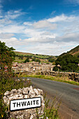 Village of Thwaite at the head of Swaledale, North Yorkshire, England
