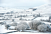 Peaceful snow scene in the Howgills, near Ravenstonedale, Cumbria, England
